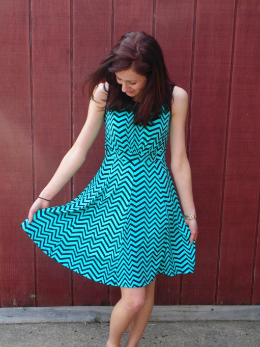 This mint zigzag is so swingy and light, and it won't wrinkle - what could be better? - $16.99