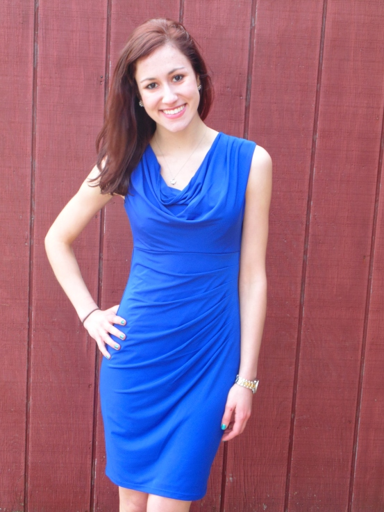 This one takes the cake. It's classy. It's cobalt. It's cowl neck. It was... - $11.99